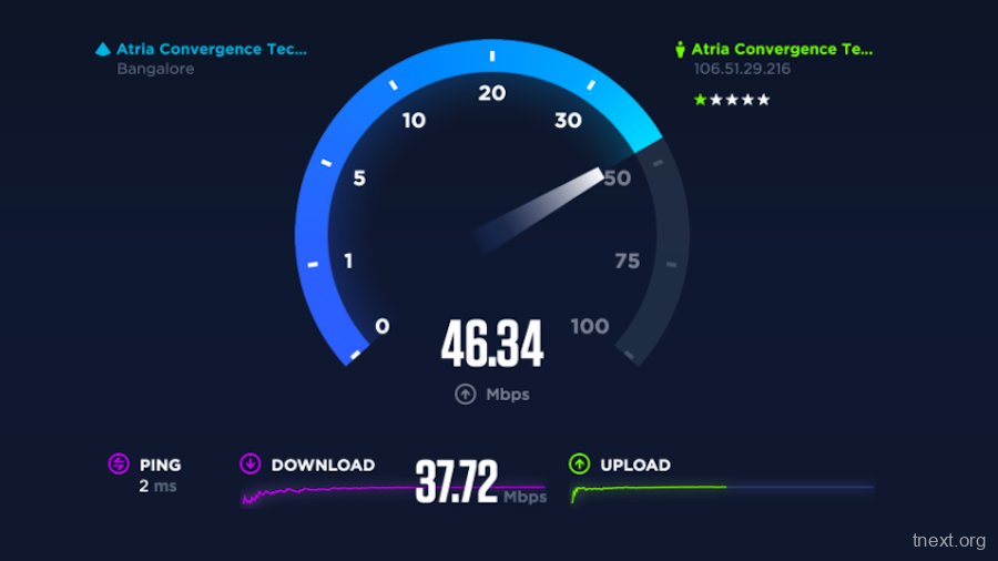 TNEXT   Linux speed test测速软件